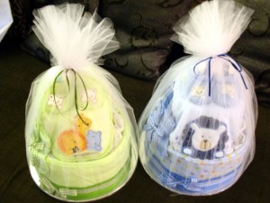 Diaper Cakes for Twins