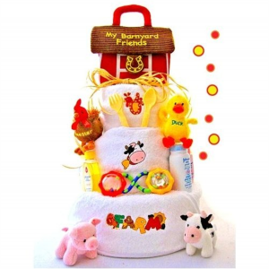 Farm Yard Diaper Cake