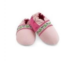 Pink Tulip Baby Booties