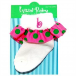 Pink and Green Initialed Baby Sock