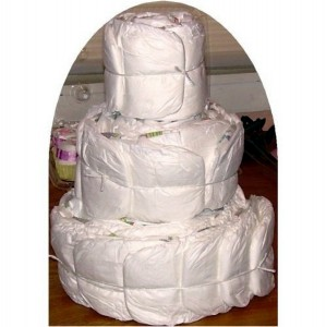 Undecorated Diaper Cakes