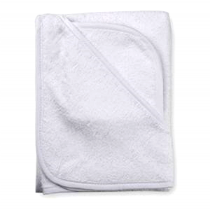 White Terry Infant Hooded Towel