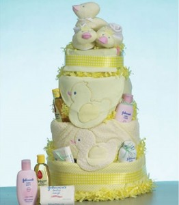 Yellow Duck Diaper Cake Ideas
