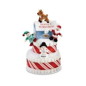 Christmas Baby Diaper Cake